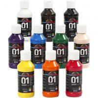 surtido de pinturas acrilicas 10 colores