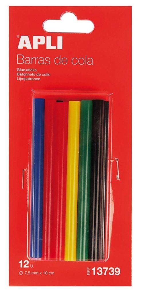 silicona en barra de colores