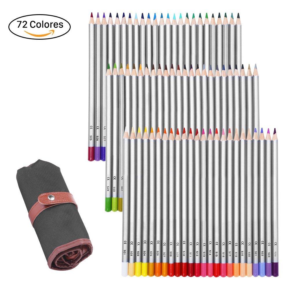 GHB Lápices de Colores 72 Colores Lápices Profesional para Arte