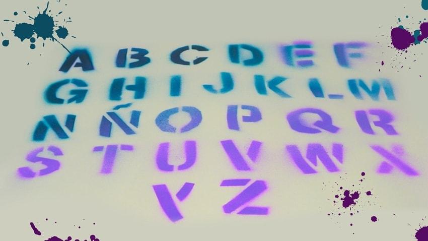 plantilla stencil abecedario
