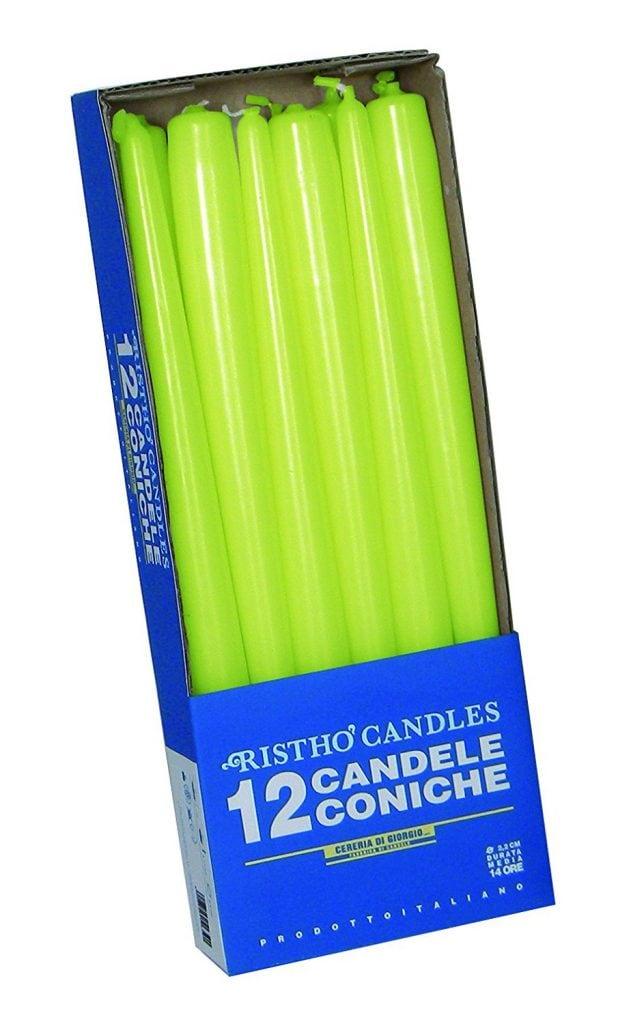 12 velas de colores