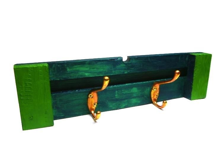 perchero madera reciclada