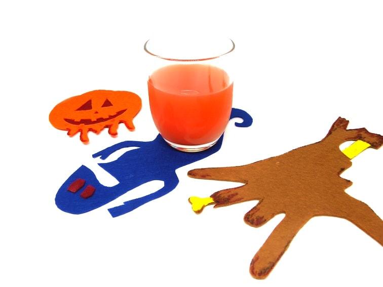 posavasos de fieltro para halloween