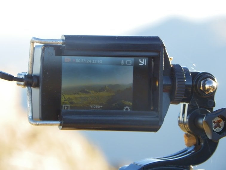 usando la camara xiaomi yi discovery  para grabar un time lapse
