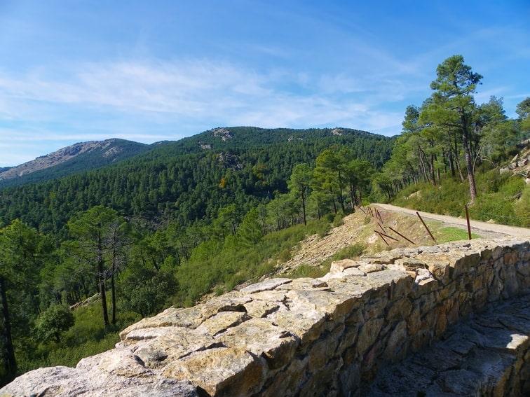 segundo mirador y vista del monte abantos