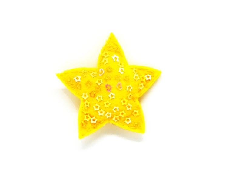 broche de fieltro con forma de estrella