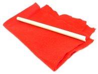 tela roja y palo fino