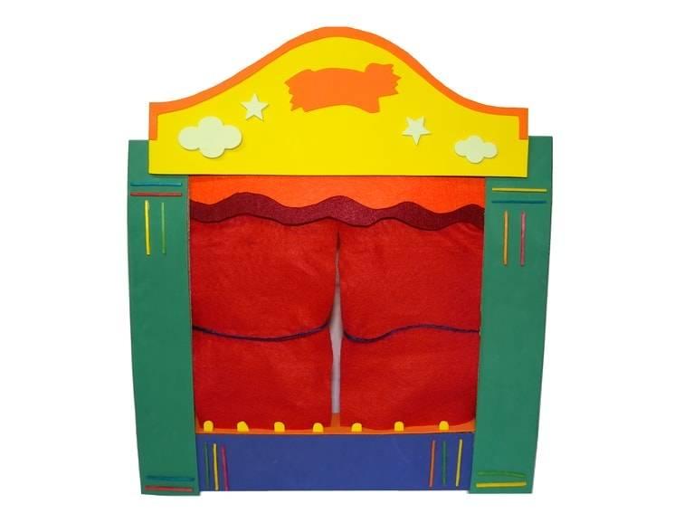 teatro de titeres hecho con carton y goma eva