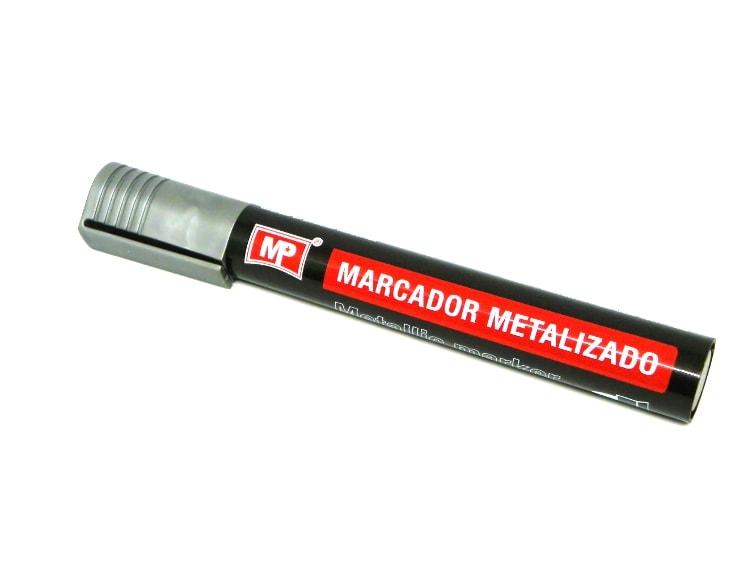 marcador permanente plateado de mp