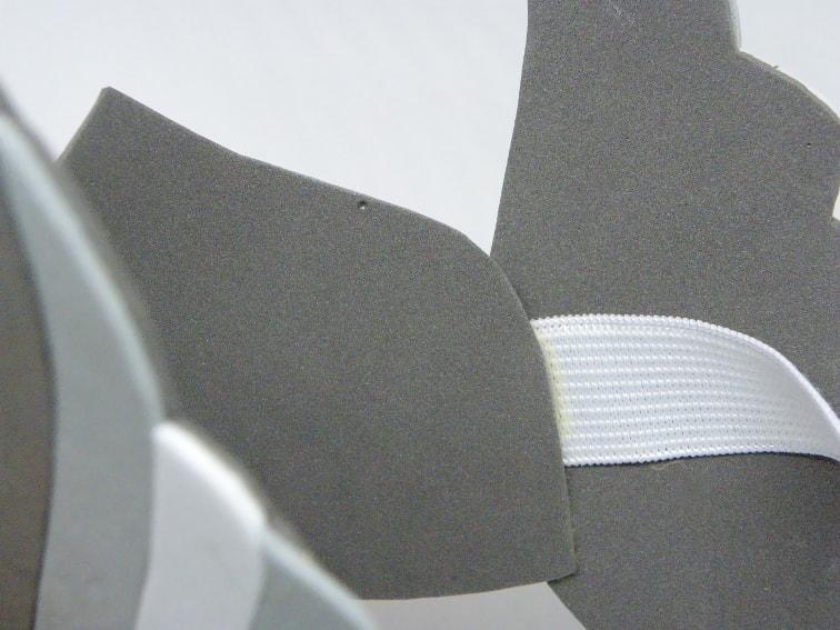 parte interna del casco de thor hecho con goma eva