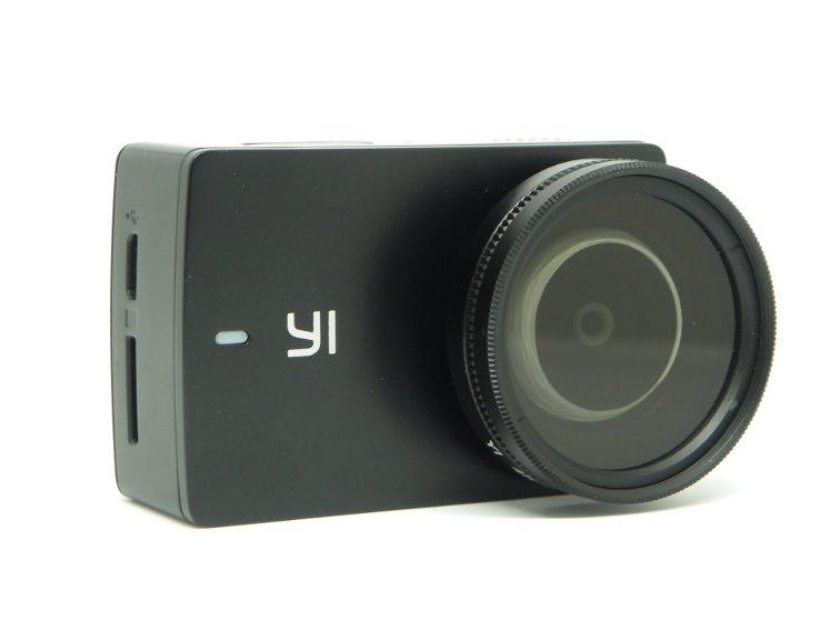 camara xiaomi yi discovery con filtro polarizador circular de 37 mm