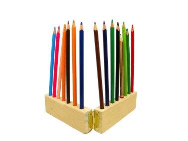 portalapices plegable hecho con un liston de madera de un pale