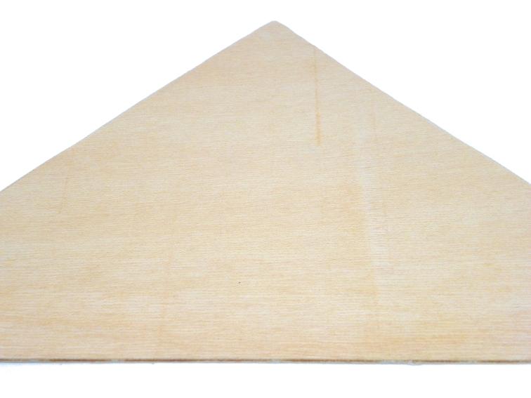 tabla fina de madera para hacer hotel de insectos