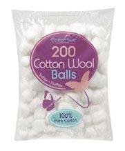 paquete con 200 bolas de algodon 100% natural