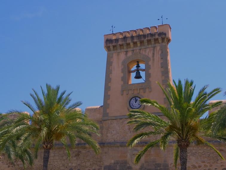 reloj del castillo fortaleza de santa pola
