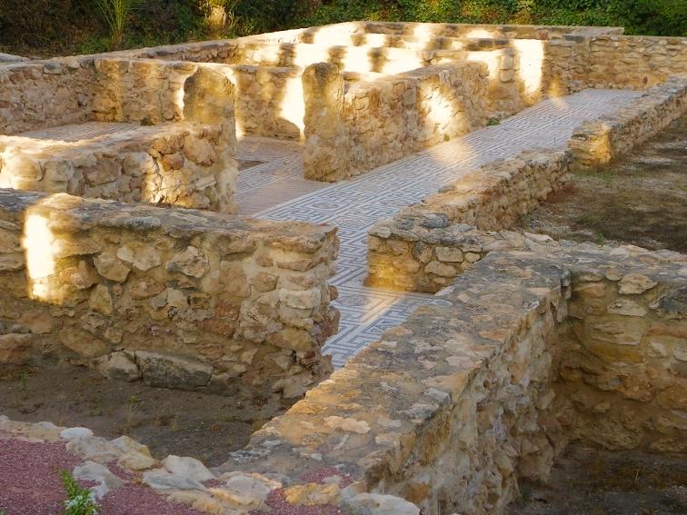 restos de una villa romana en el parque de el palmeral de santa pola