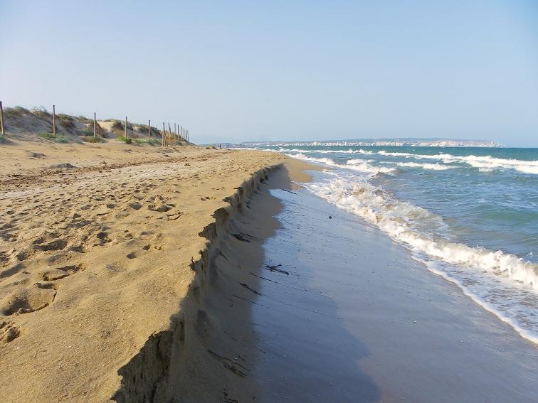 vista panoramica de la bahia de santa pola desde la playa del pinet
