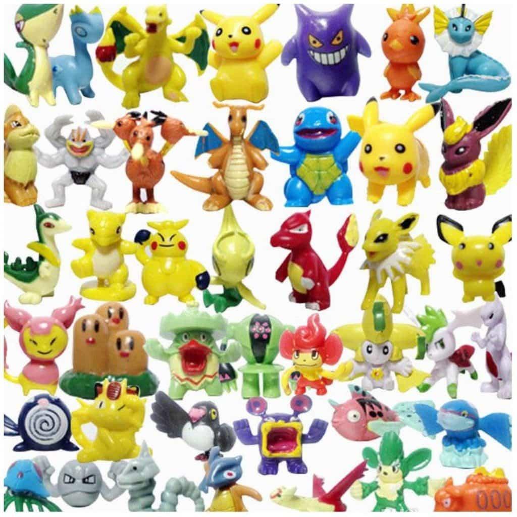 lote de 24 figuras de pokemon