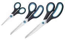 Westcott Easy Grip Set de tijeras 3 unidades color azul y negro