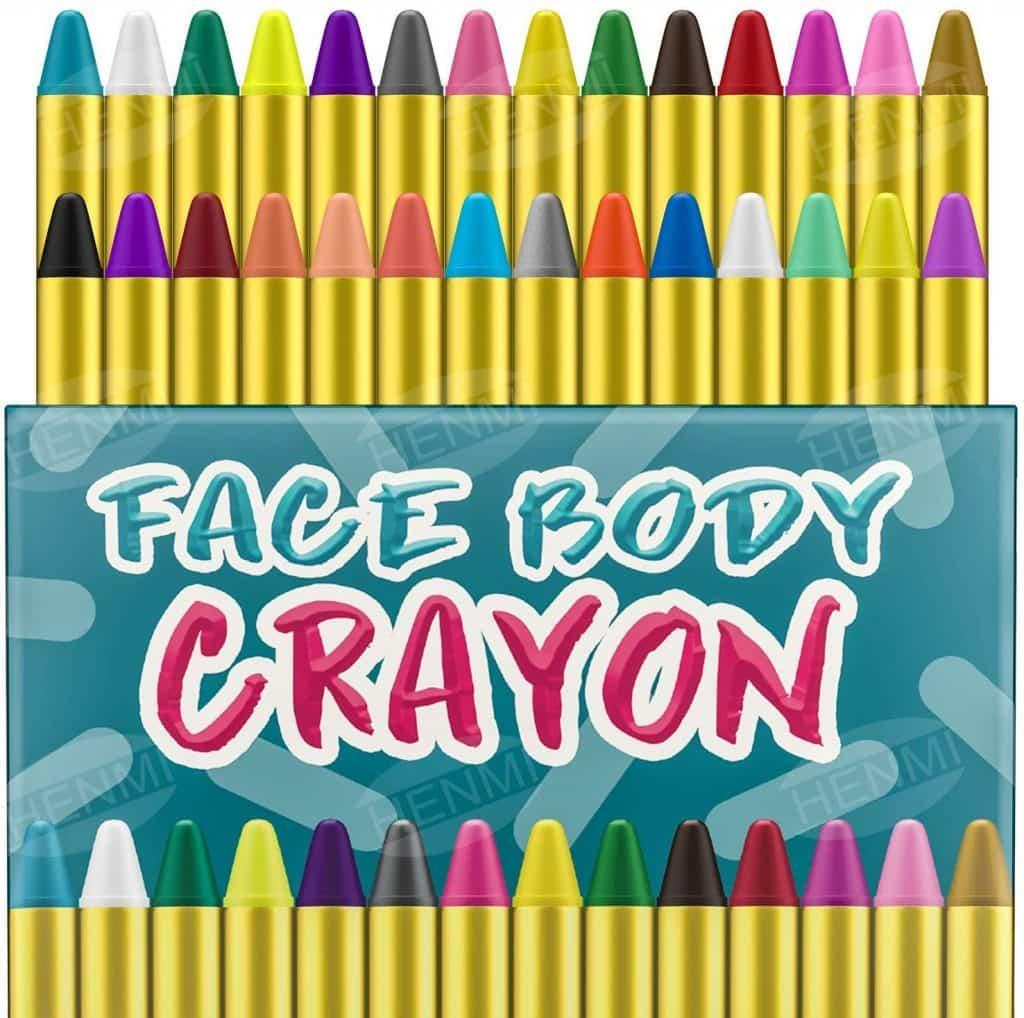 Pinturas Cara para Niños Seguridad no tóxica Pintura Facial 28 colores Crayons de Pintura ajuste Halloween Fiestas