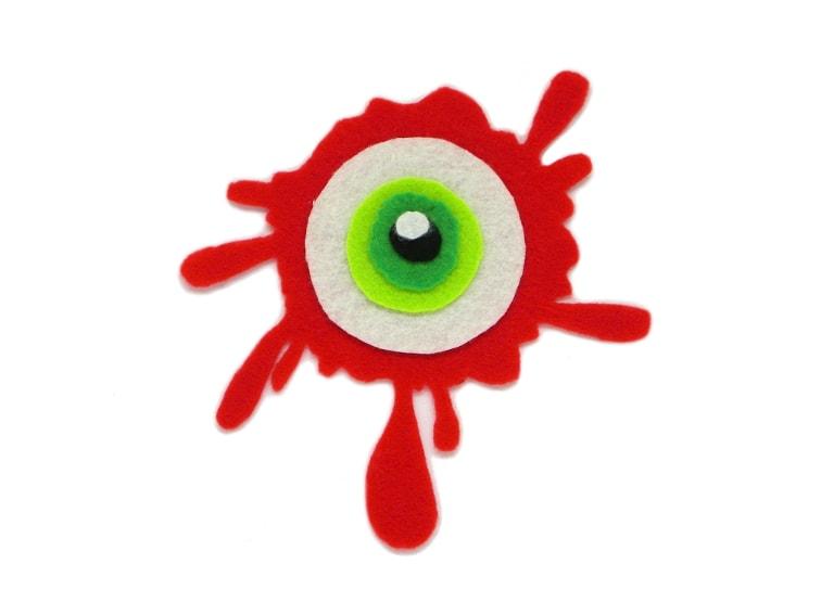 todas las partes del ojo sangriento de fieltro recortadas