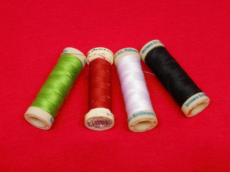 hilos de colores para coser parche de ojos sangriento para disfraz de halloween