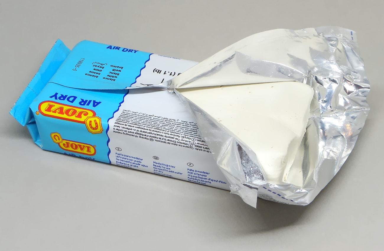 pasta para modelar blanca jovi air dry 500 gramos