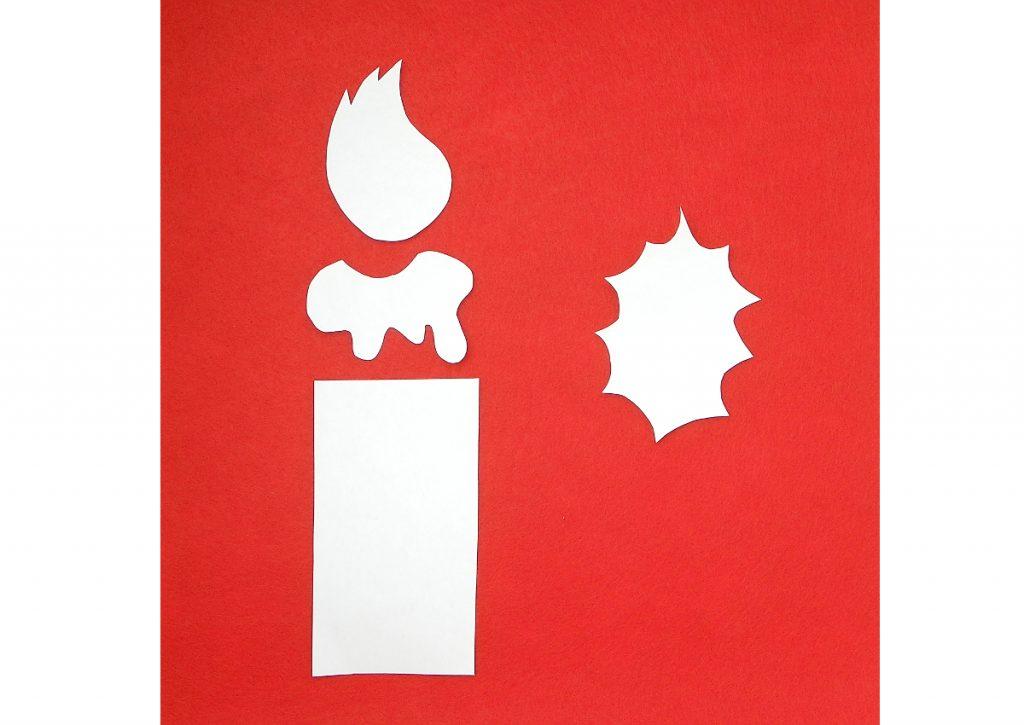 plantillas para hacer porta cubiertos navideño con fieltro de colores