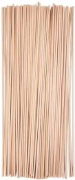 100 palos redondos de 30 cm de longitud