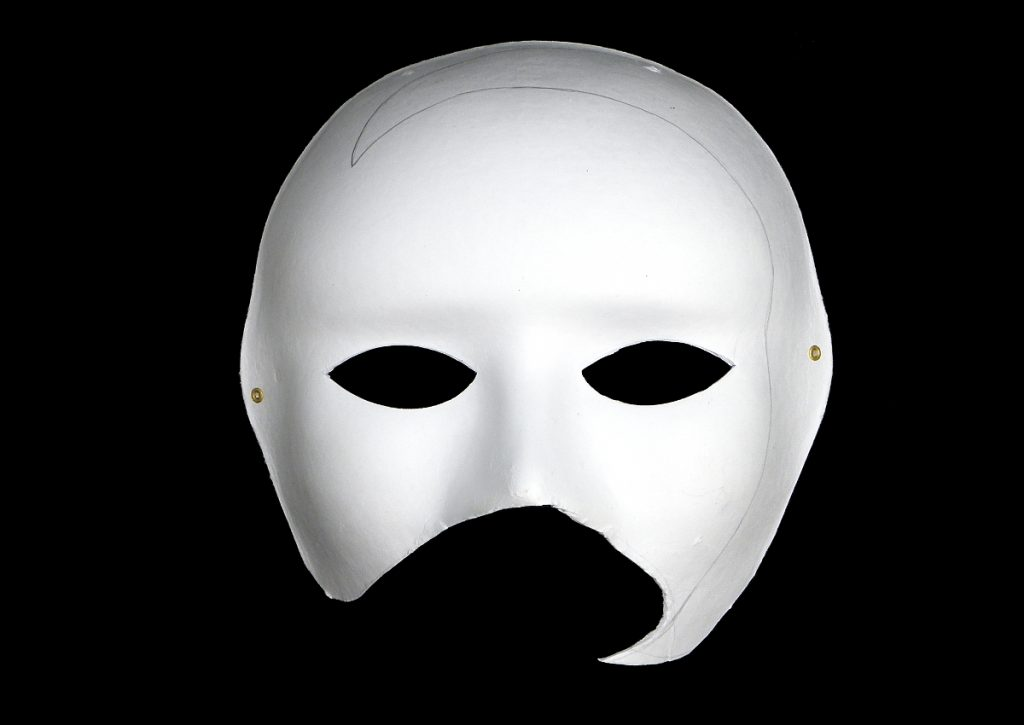 mascara de pasta de papel recortada para hacer mascara estilo veneciano