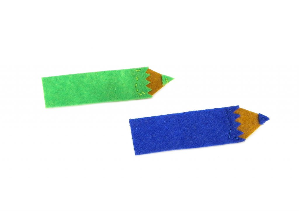 lapices de colores hechos fieltro