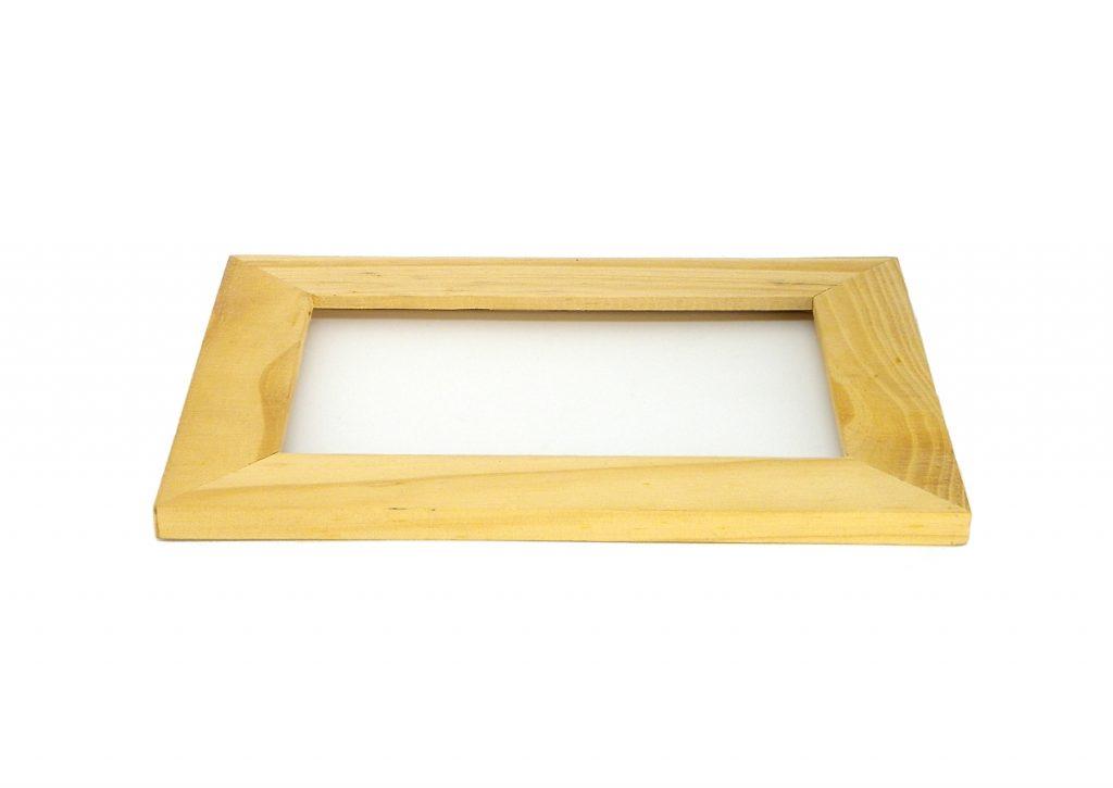 marco de madera para hacer tablon de notas
