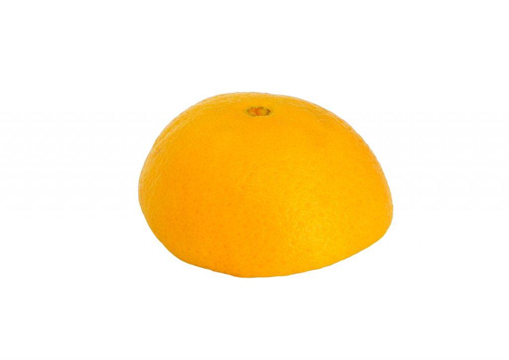 media cascara de naranja para hacer adorno aromatico