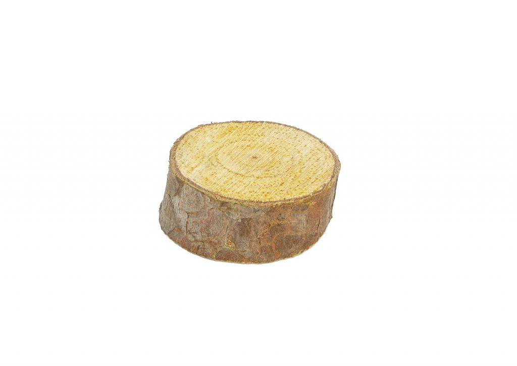 rodaja de madera de pino para hacer portallaves