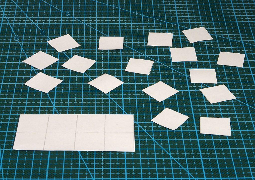 cuadricula de papel y cuadrados para hacer cohete de tintin