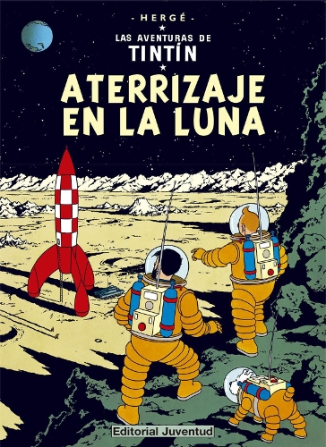 tintin aterrizaje en la luna