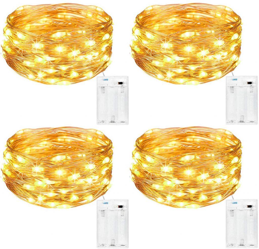 4 guirnaldas de luces led 5m