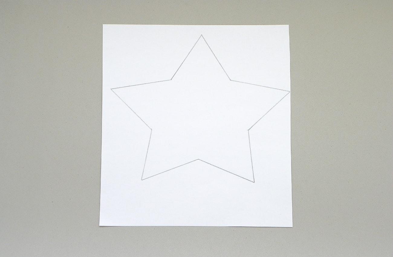 plantilla de una estrella para hacer adorno luminoso