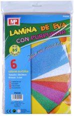 Goma Eva con purpurina 20 x30 cm