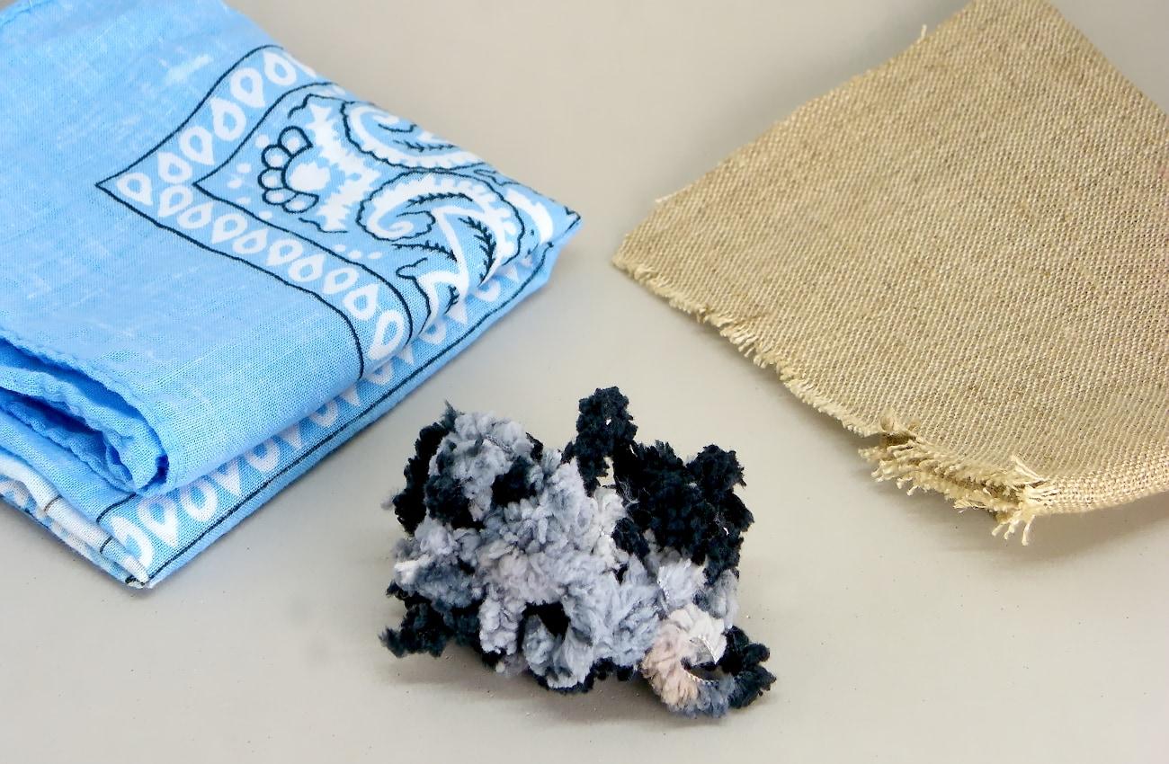tela de algodon de lino y lana de colores para hacer alfileteros