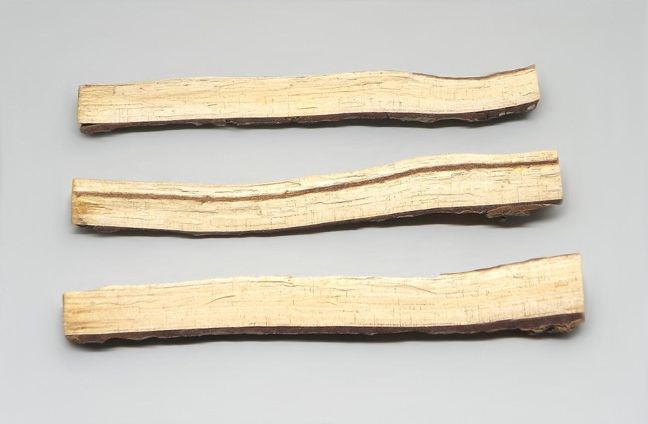 tres ramas secas de pino para hacer movil de viento
