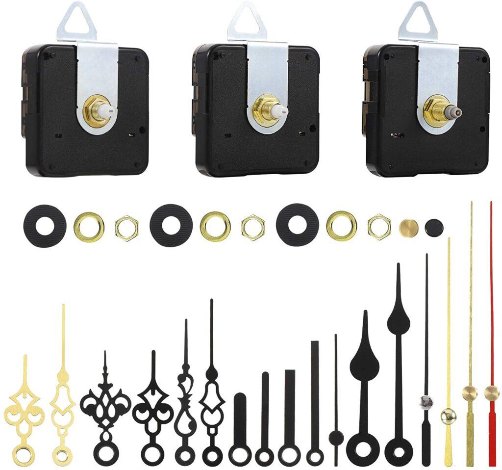 3 piezas mecanismo reloj de pared con 6 piezas de reemplazo