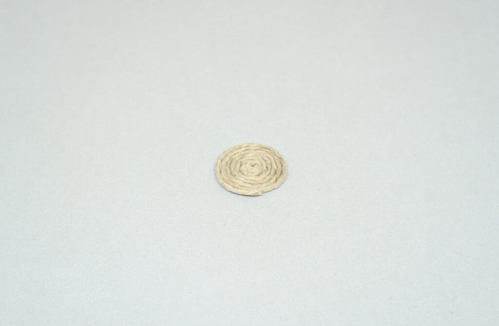 redondel hecho con cuerda de yute de 1 mm