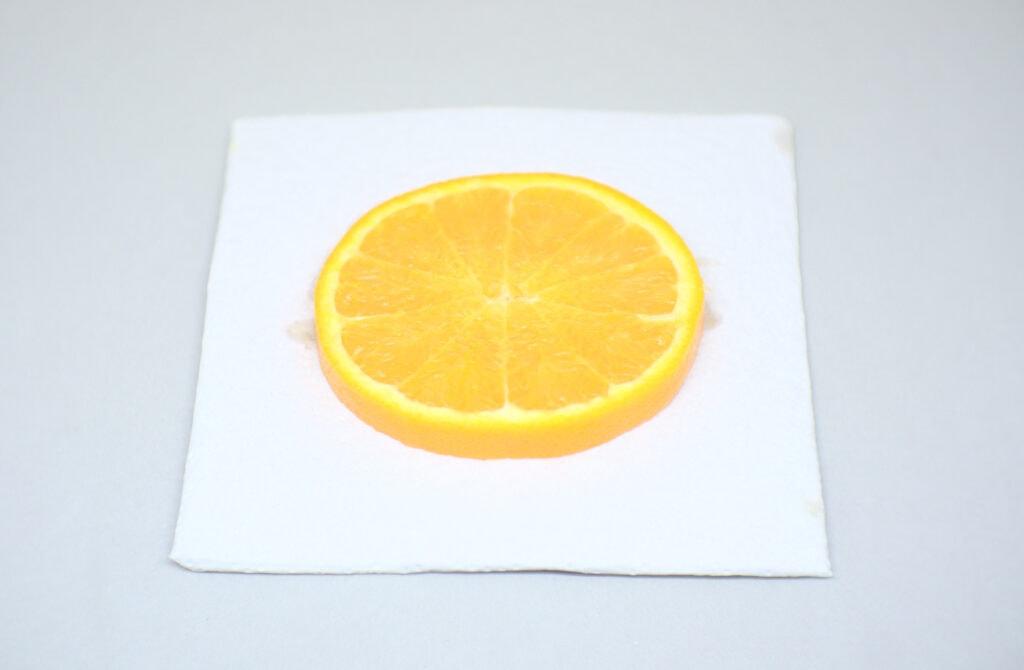 rodaja de una naranja madura